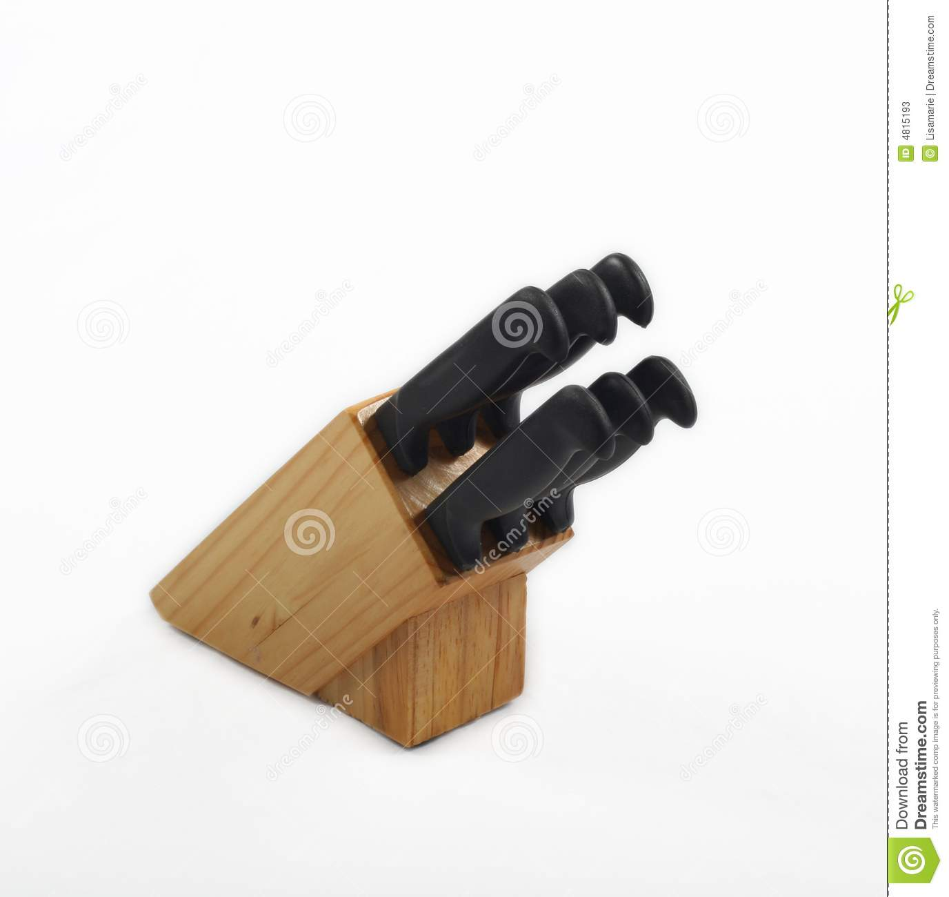 Knife Block And Knives Stock Photos - Image: 4815193