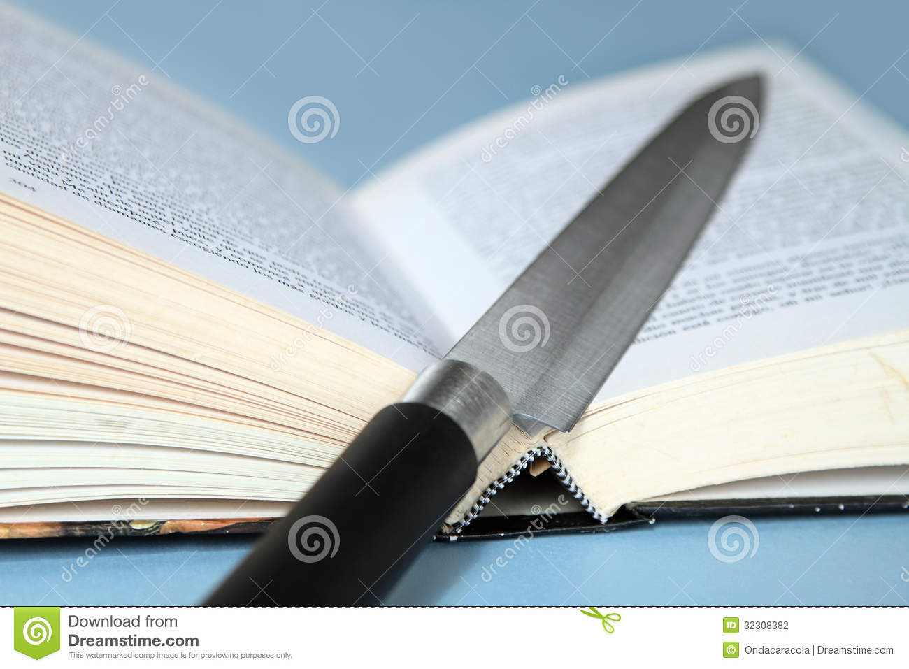 Knife and book