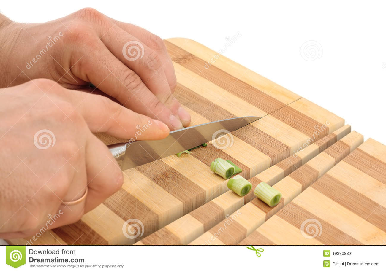 Knife Cuts Wood Cutting Board Stock Photography - Image ...