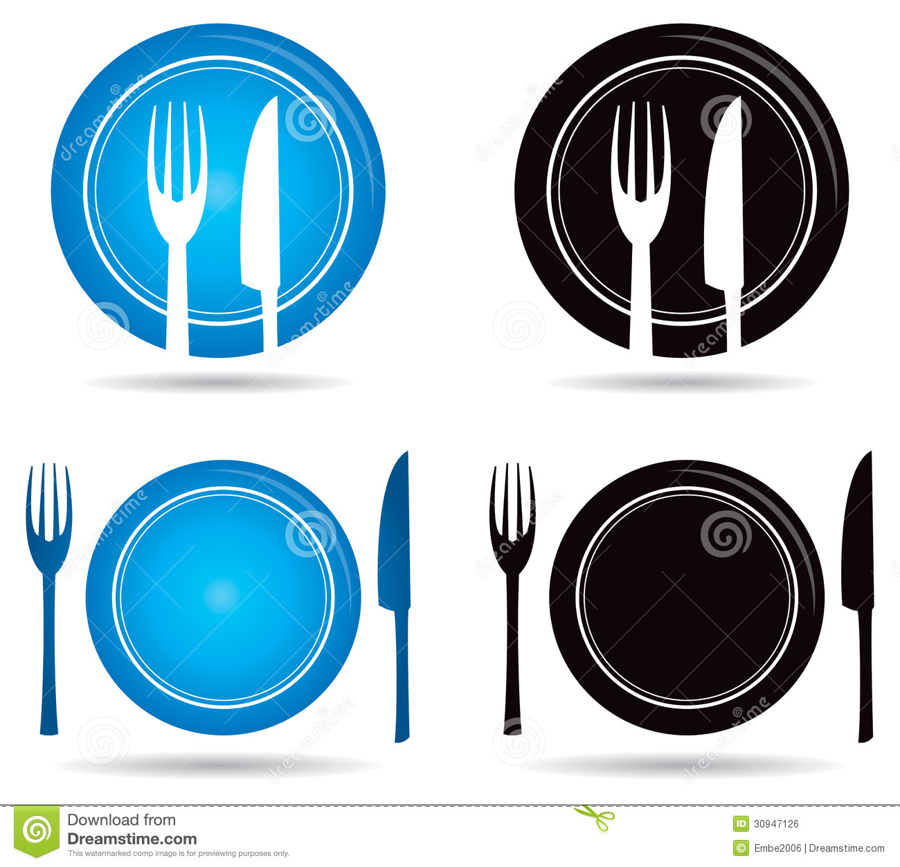 Knife Fork Logo Royalty Free Stock Image Image 30947126