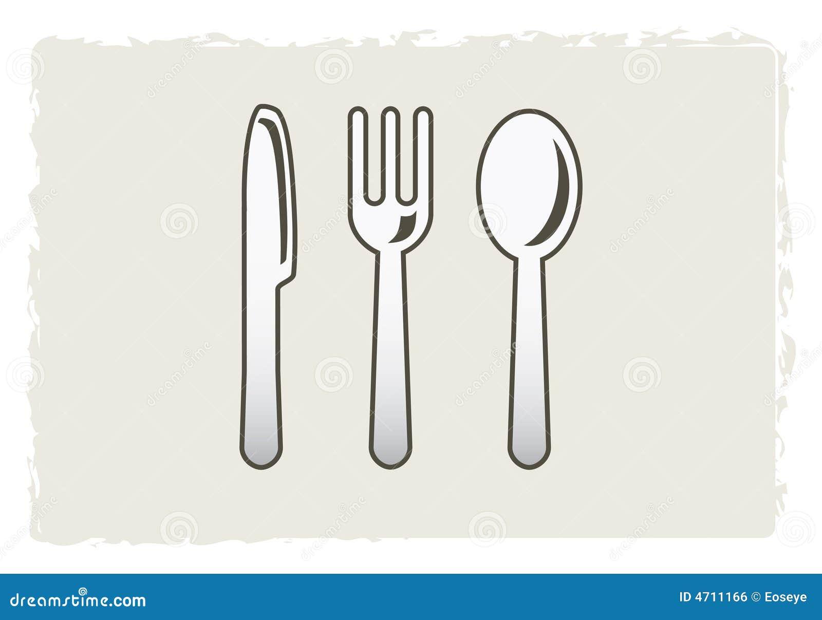 Knife Fork And Spoon Stock Illustration Illustration Of Dinner