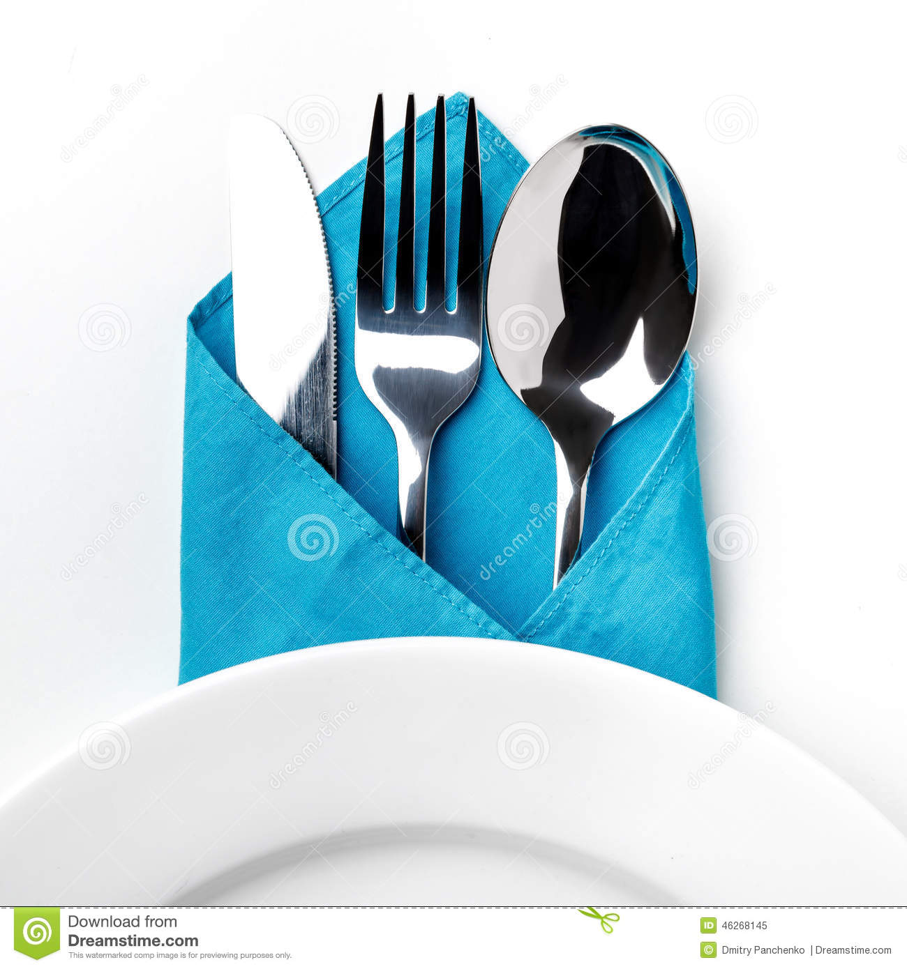 Knife, Fork, Spoon isolated