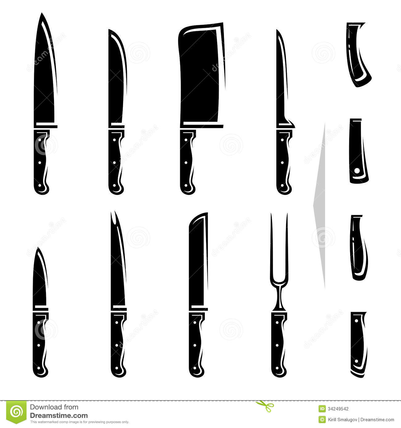 Knife Set Vector Stock Photography Image 34249542
