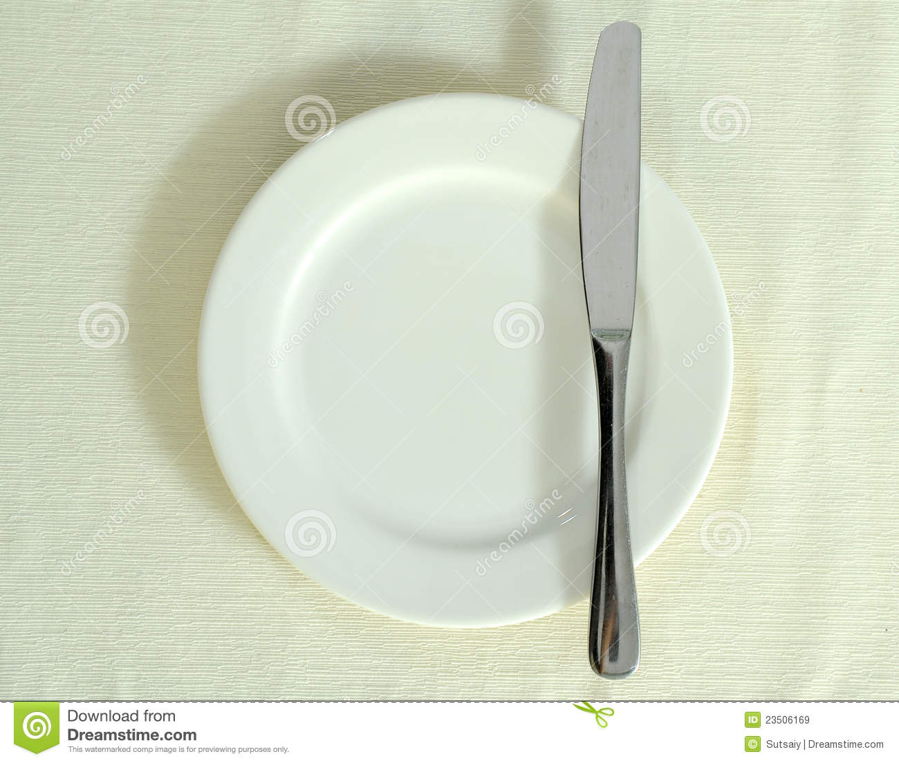 Knife white plate royalty free stock images image 23506169