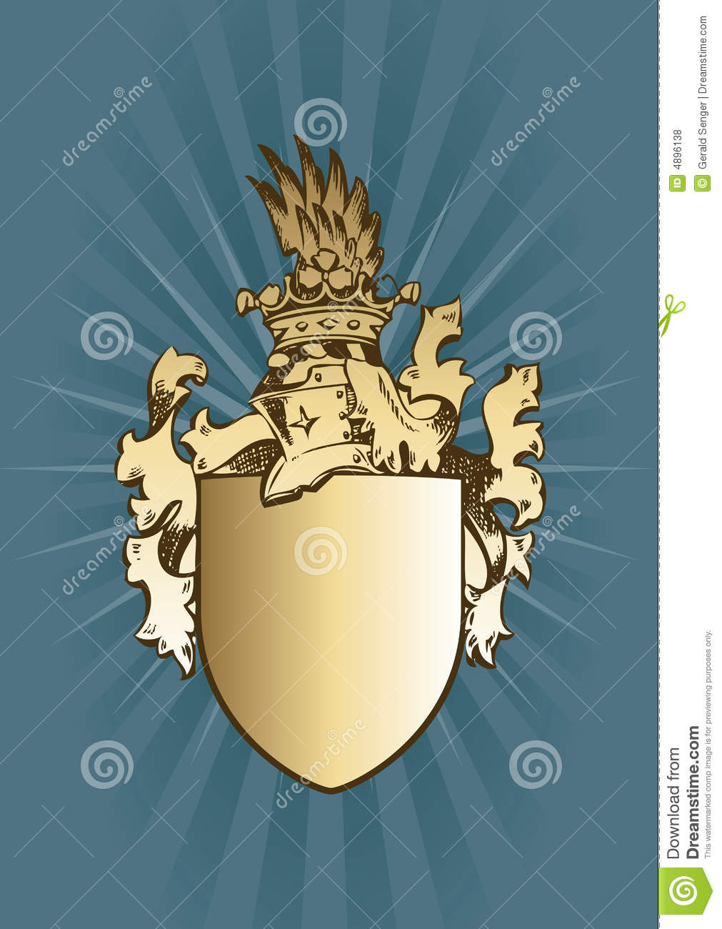 knight coat of arms royalty free stock photos