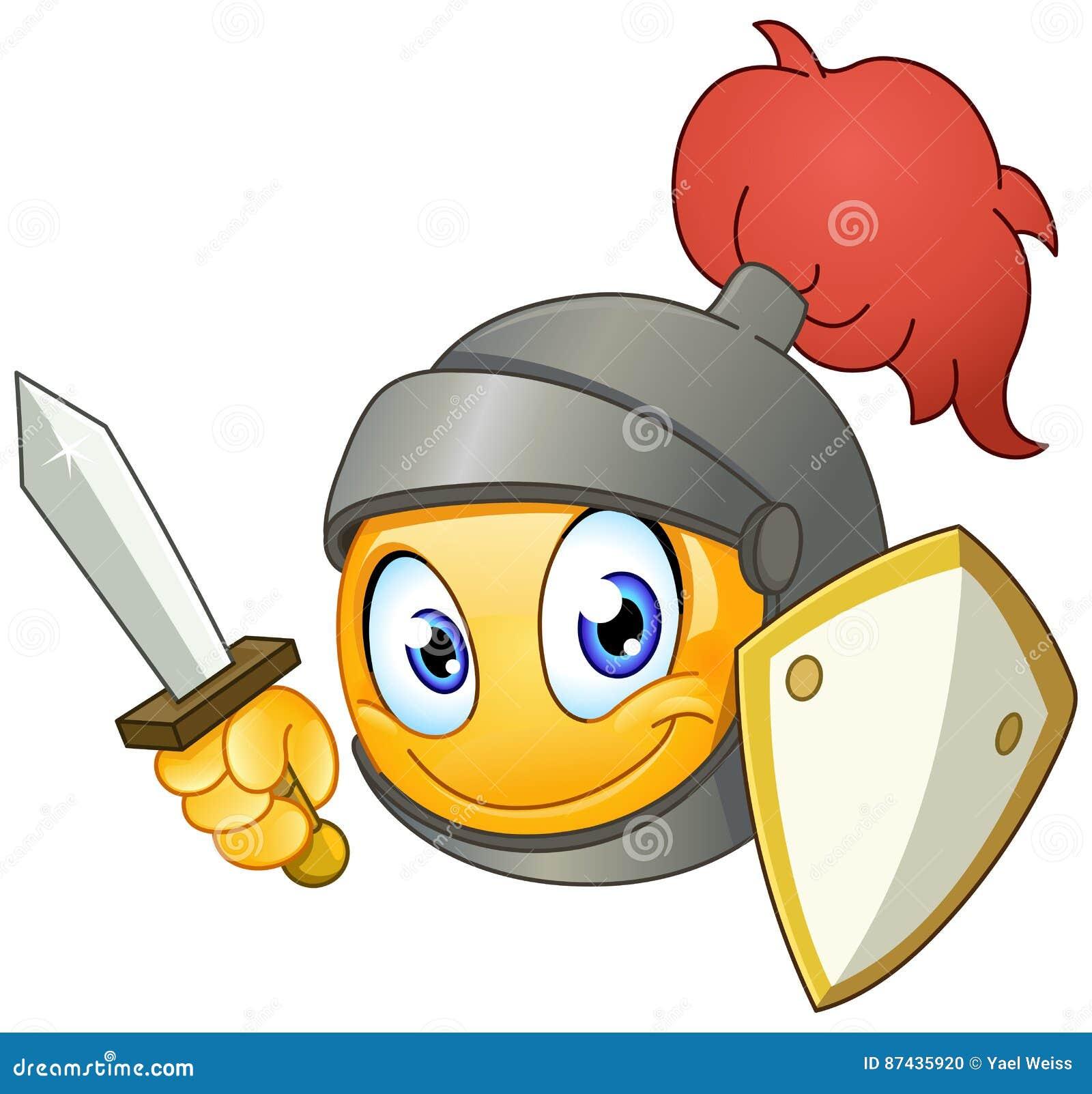 Knight Emoji Emoticon Cartoon Vector Cartoondealer Com