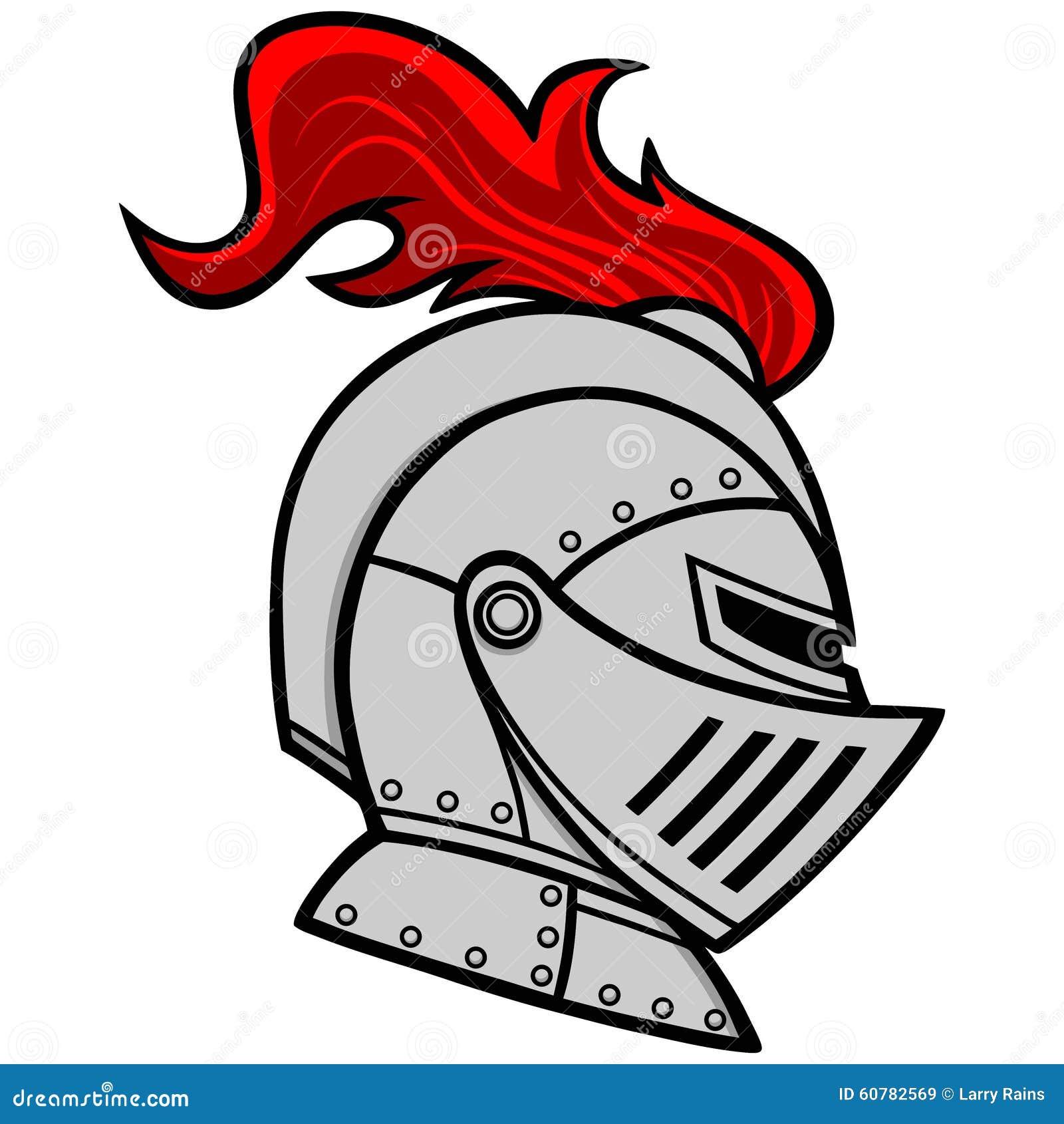 Knight helmet profile