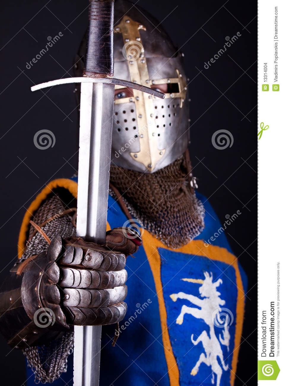 knight holding a sword stock photo  image of craft