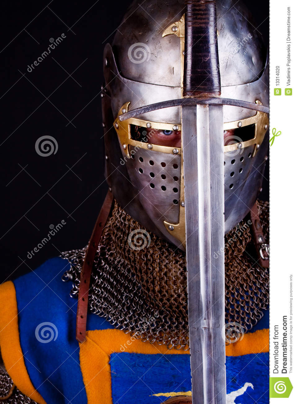 knight holding sword stock photo image 13314020