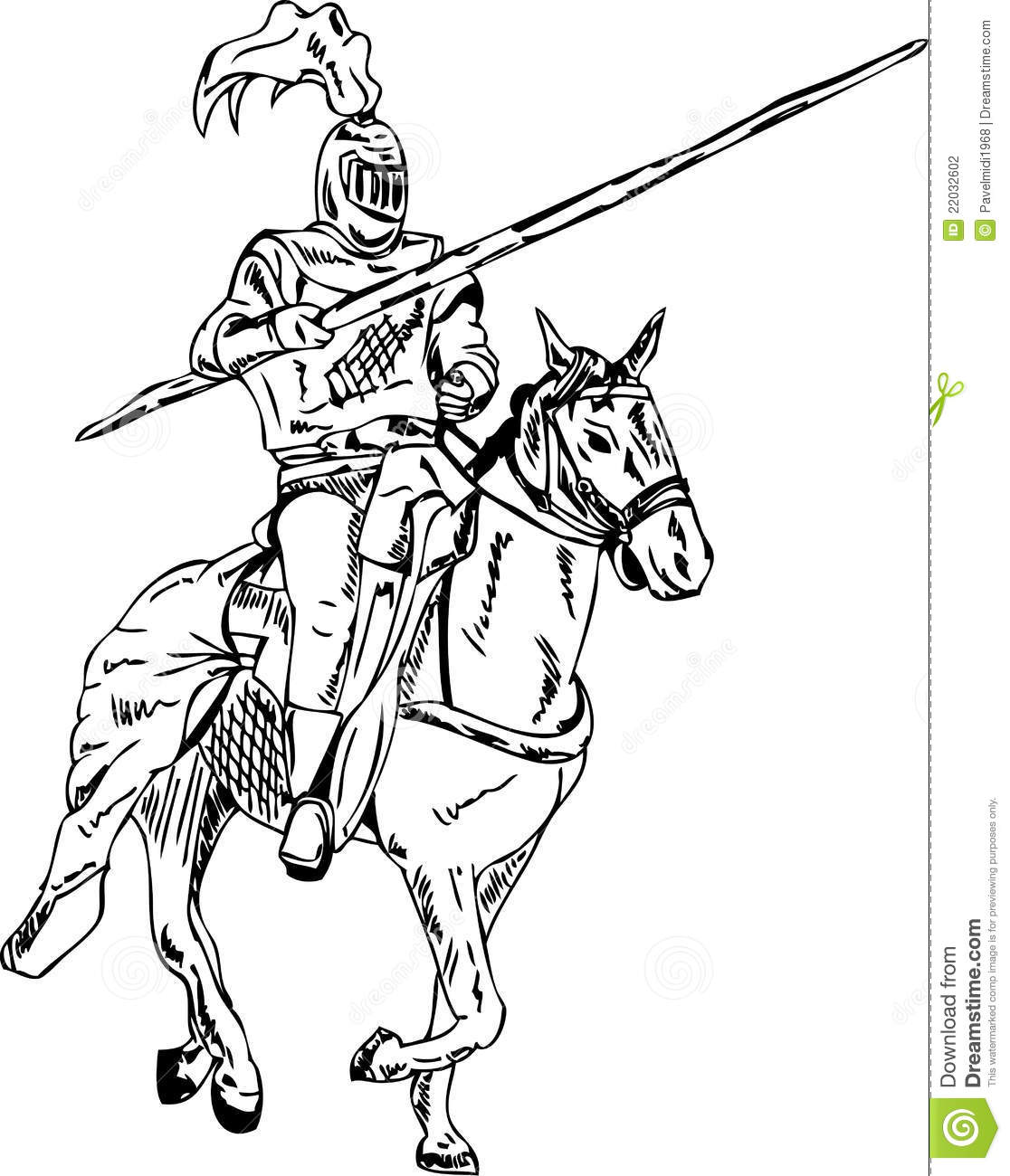 Medieval Falchion Sword Knight On Horse Stock ...
