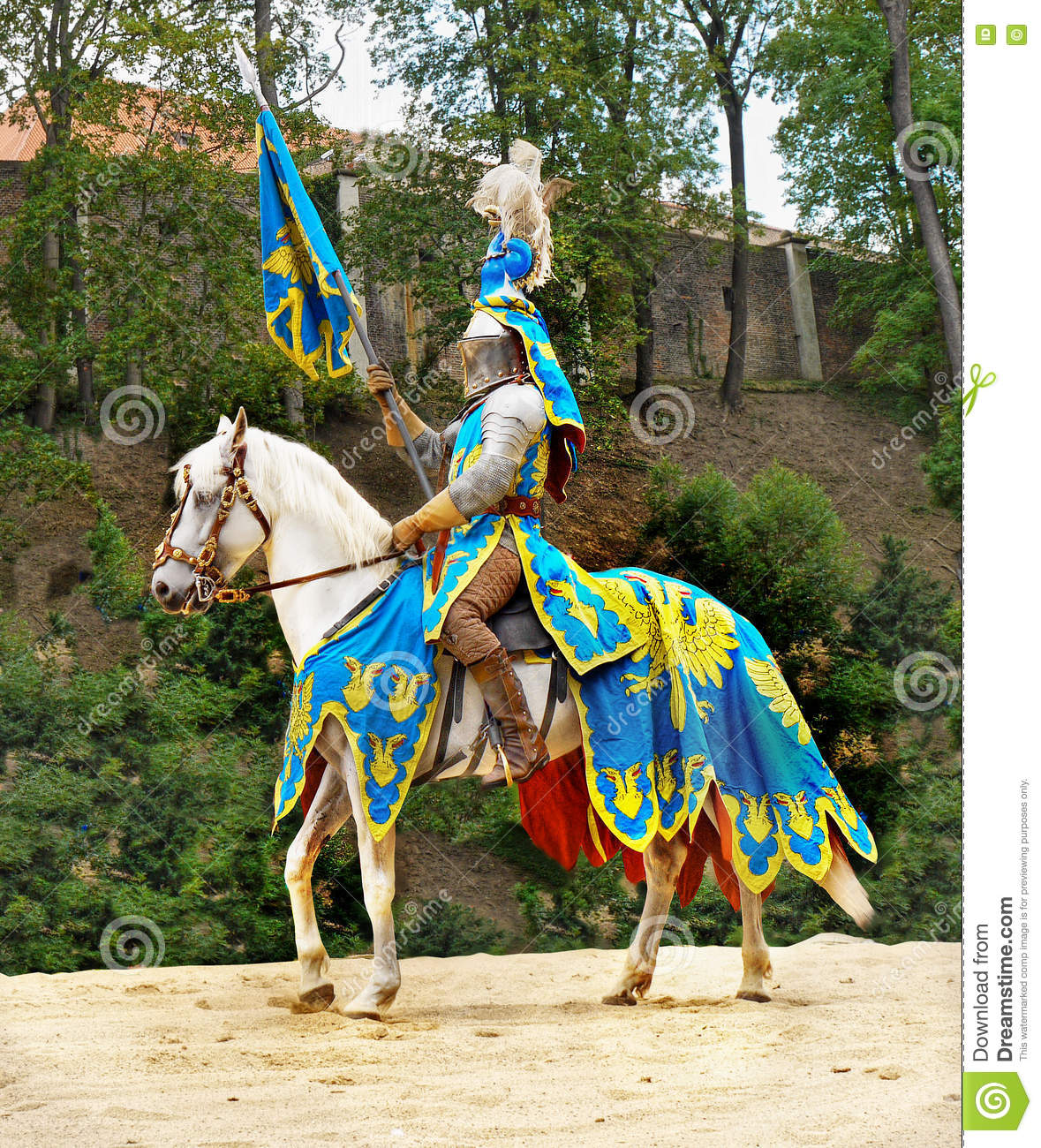 Medieval Knight Horse Riding Prague Castle Editorial Photo Image Of Historical Riding 75816036