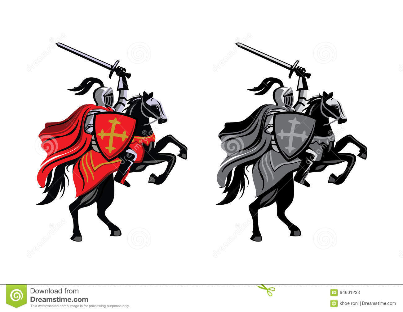 Knight Horse Stock Vector - Image: 64601233