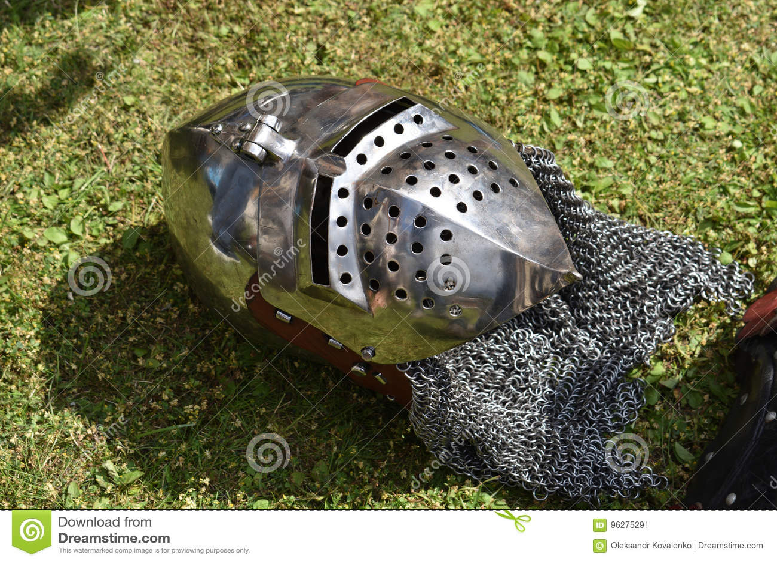 Knight`s Helmet Bascinet With Face Guard Visor Klappvisor
