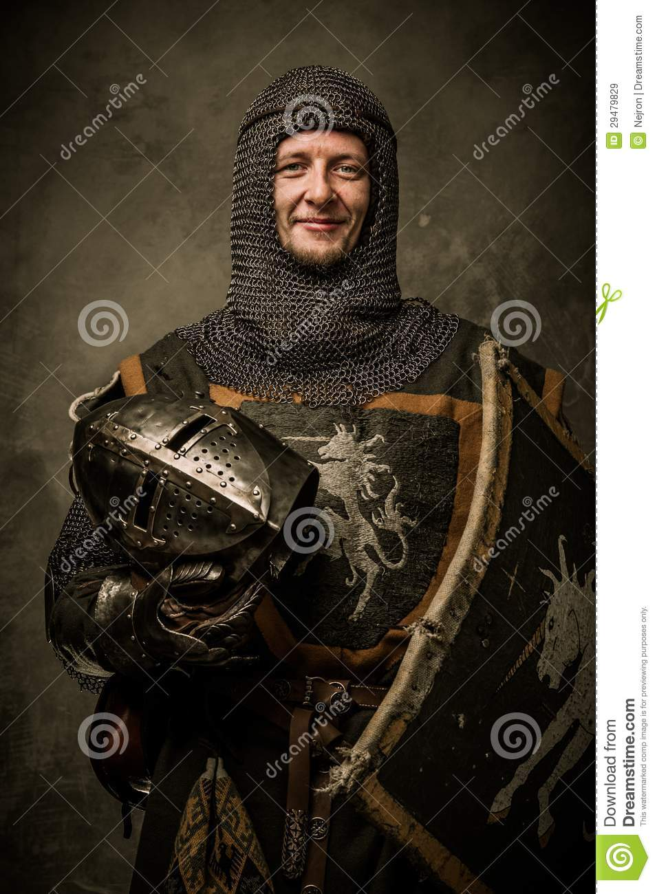 Royalty Free Stock Images  Knight with shieldKnight With Shield