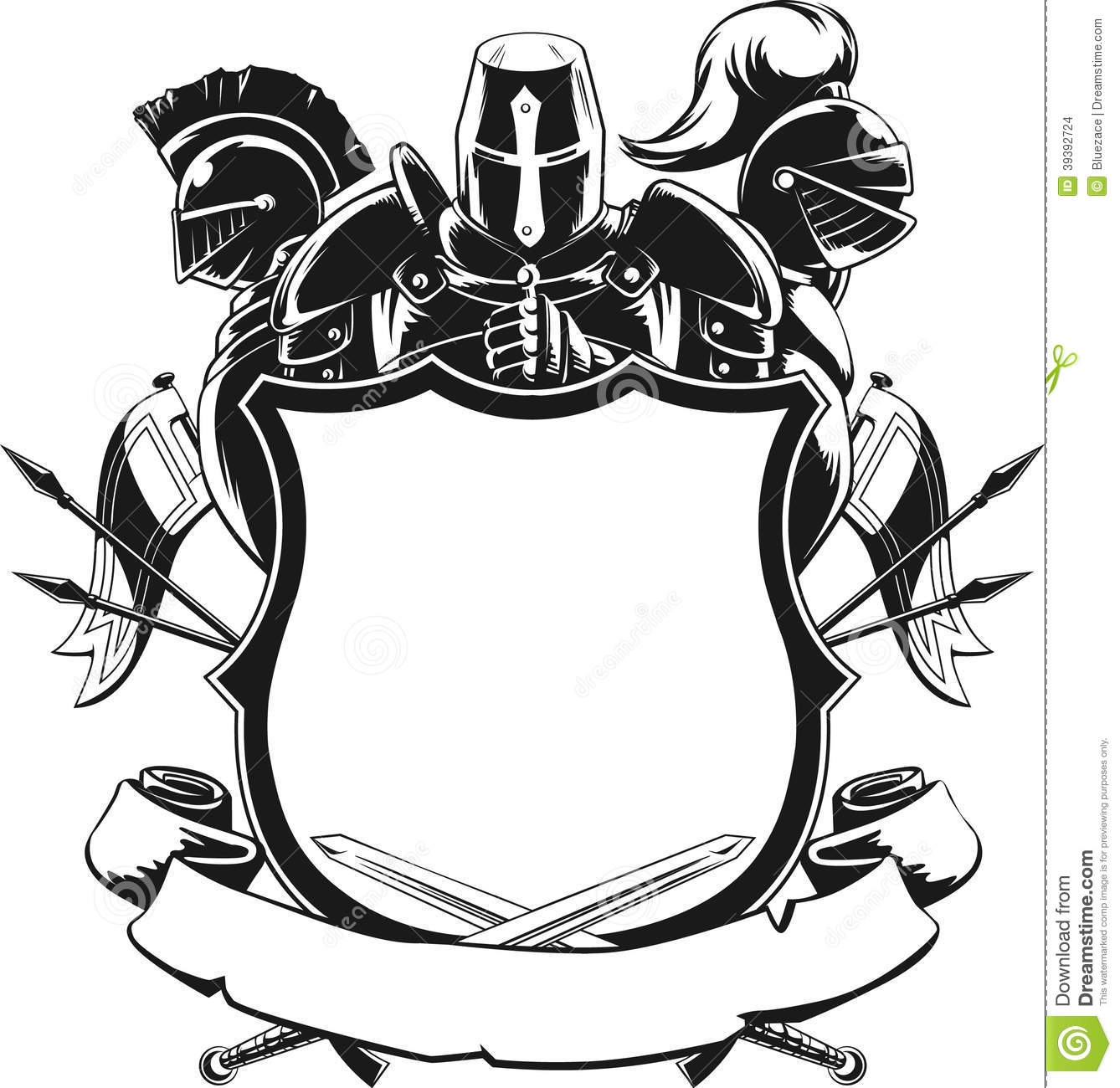 Shepherd Gold On Blue Silhouette Ornament: Shield Cartoons, Illustrations & Vector Stock Images