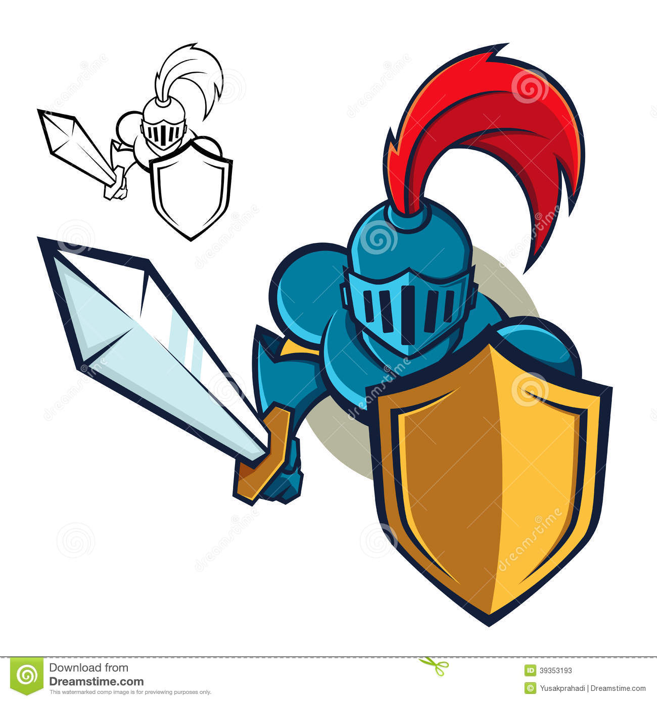 Black Knights Logo Design Knight With Shield And...