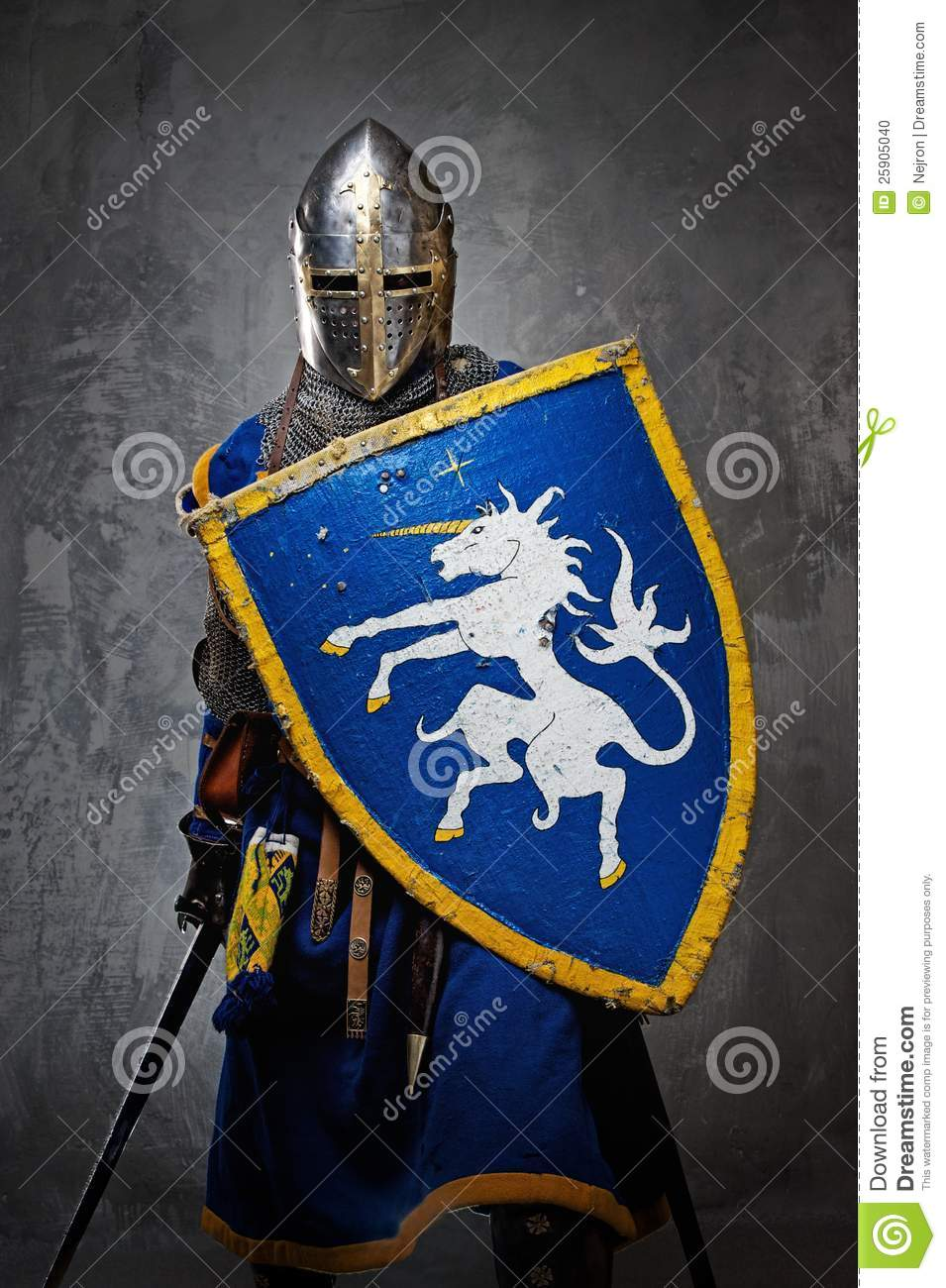 Knight With A Sword And Shield Stock Photo - Image: 25905040