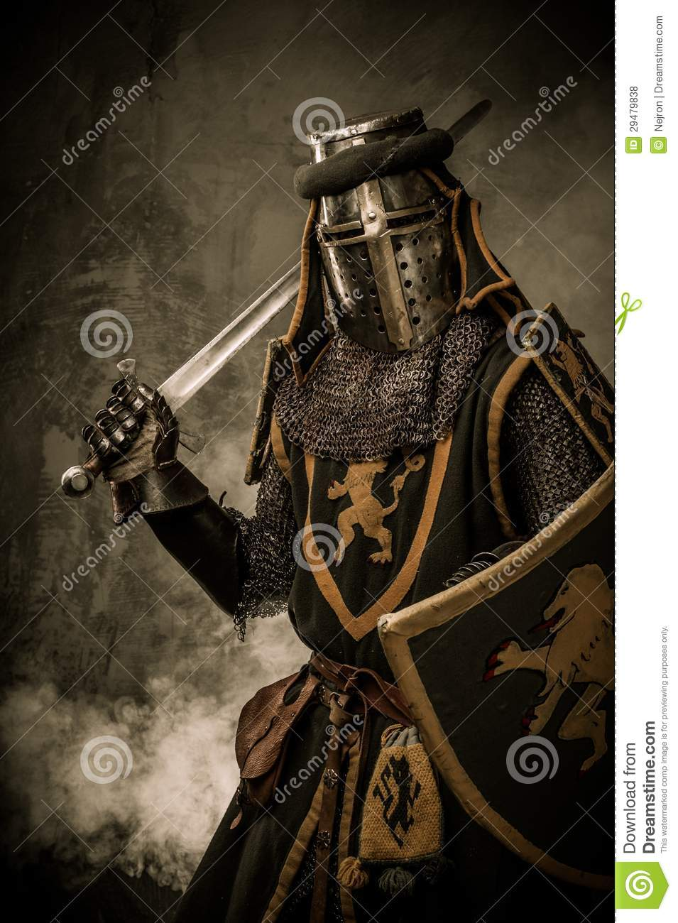 Knight with Sword and Shield Statue |Knight Sword And Shield
