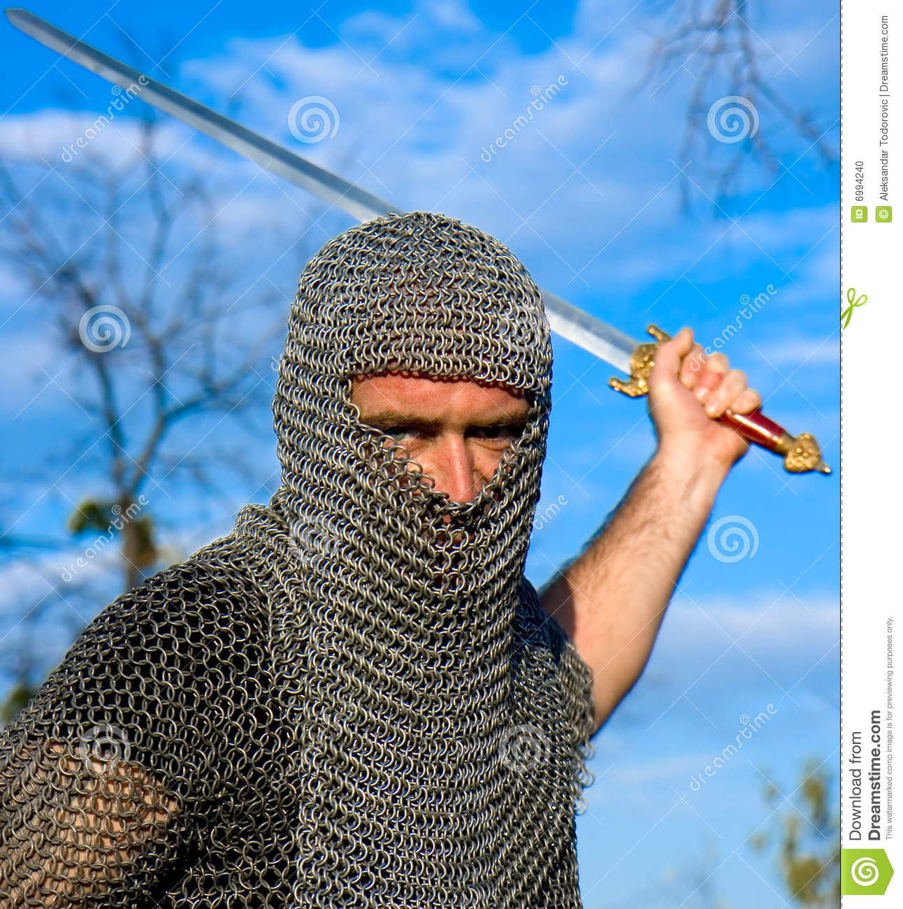 Knight Wearing Armour Stock Photo - Image: 6994240