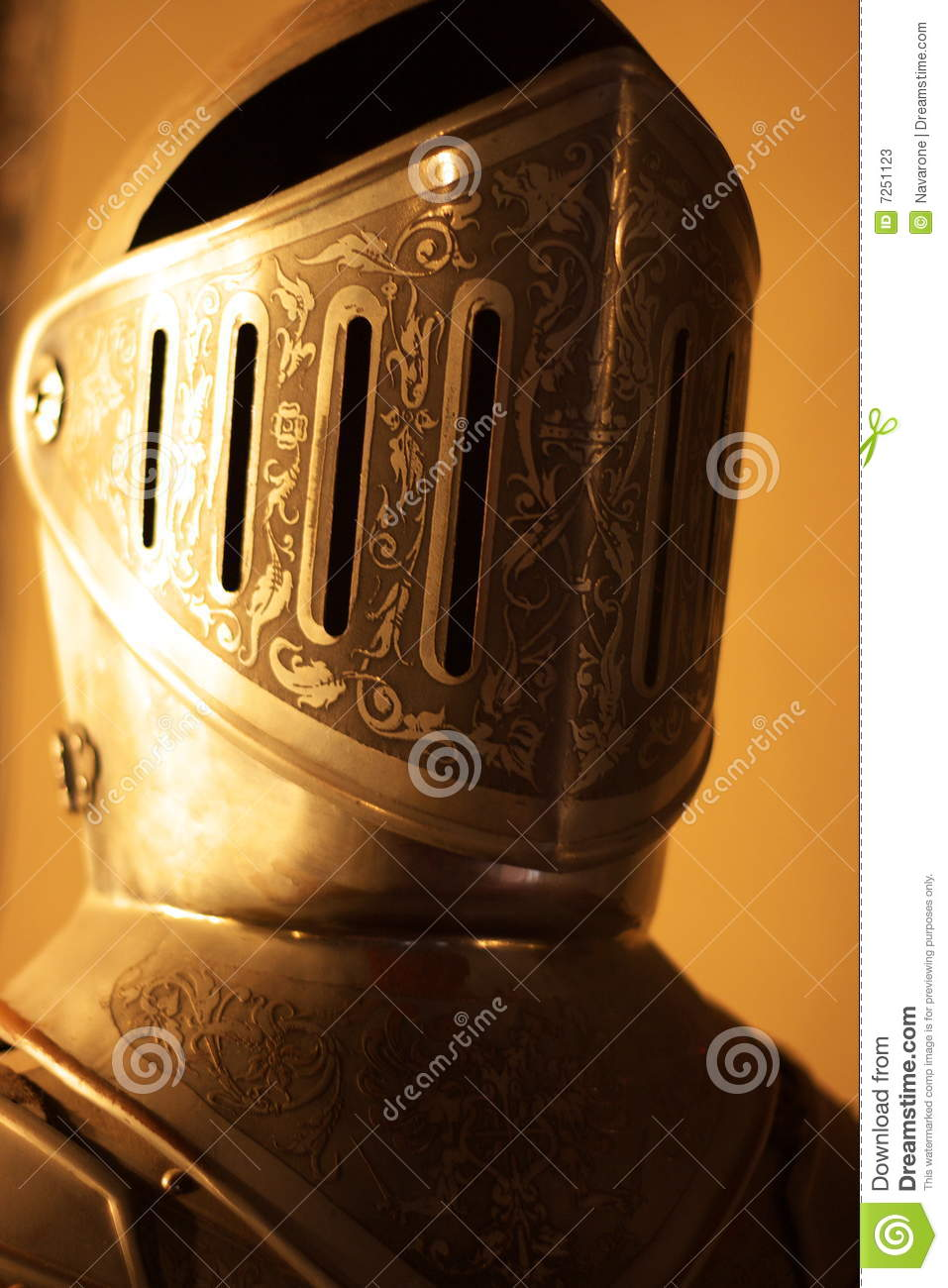 knights armour helmet stock image image of armor face