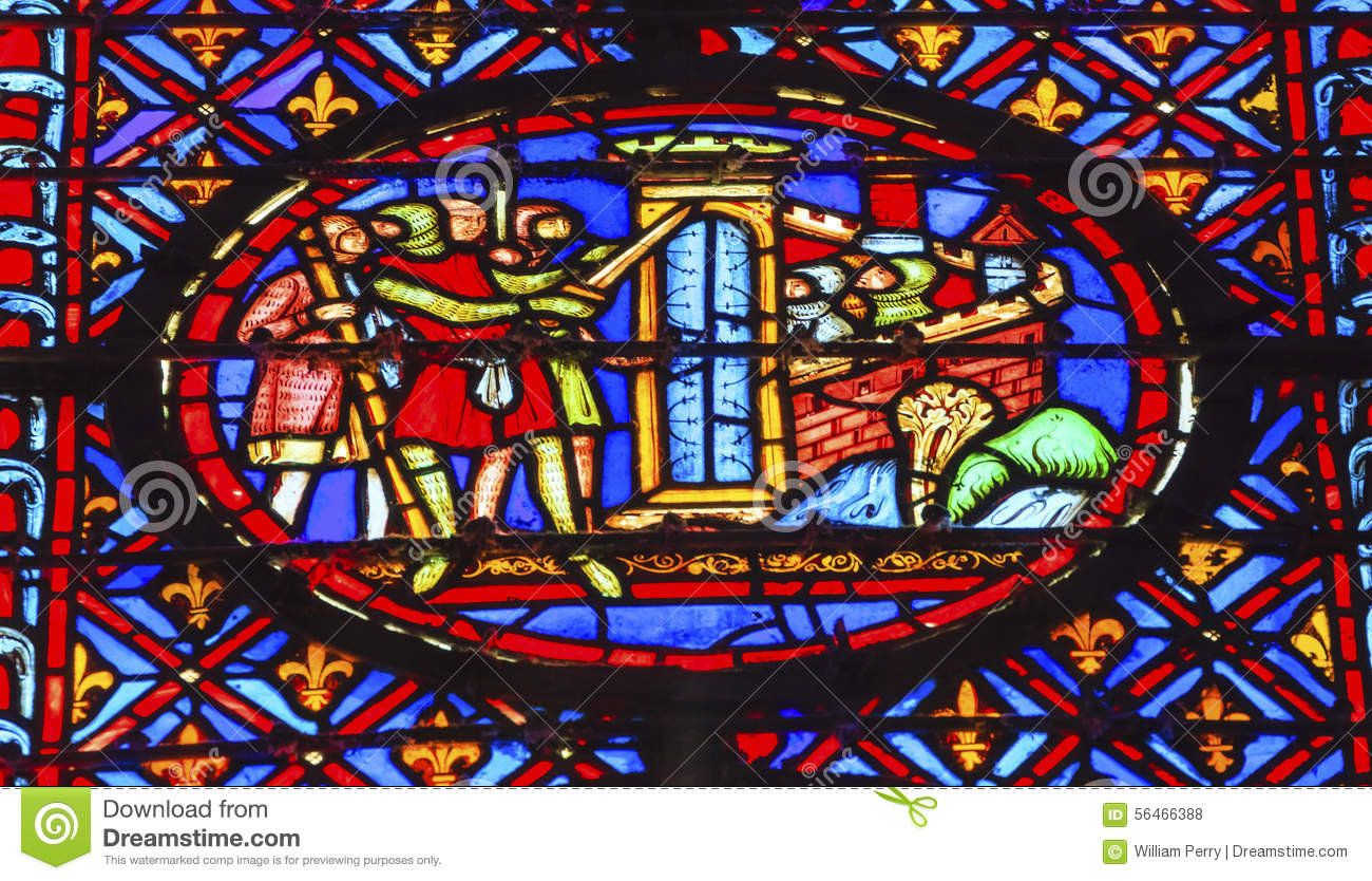knights castle seige crusade stained glass sainte chapelle paris