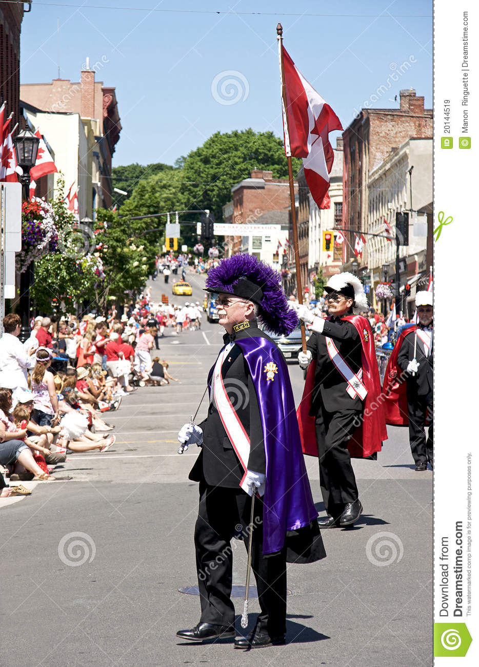 Knights Of Columbus - Canada Day Parade Editorial Stock Image ...