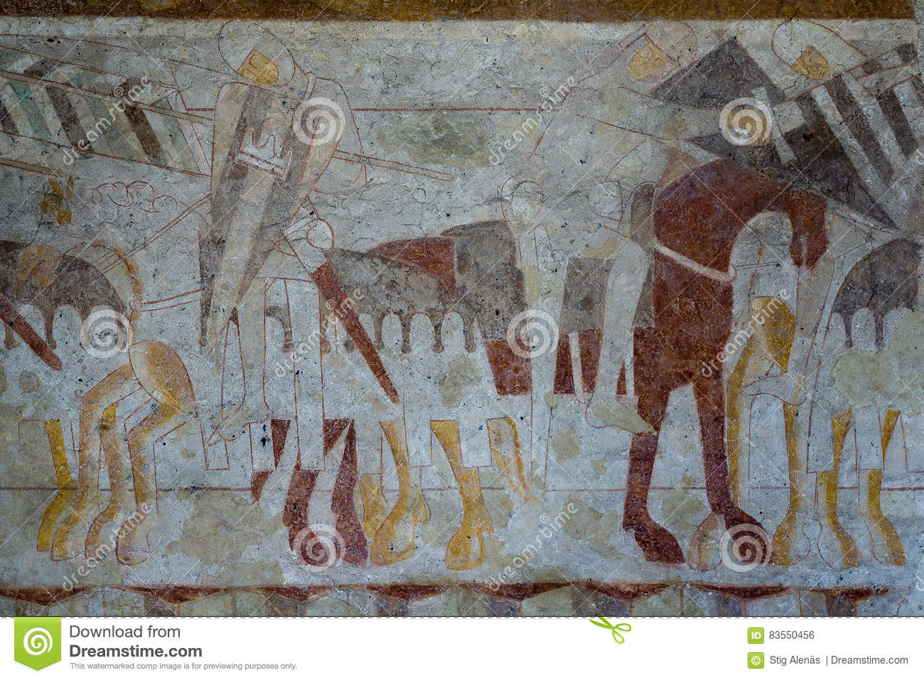 Knights figtht a battle medieval mural stock photo image 83550456 royalty free stock photo amipublicfo Image collections