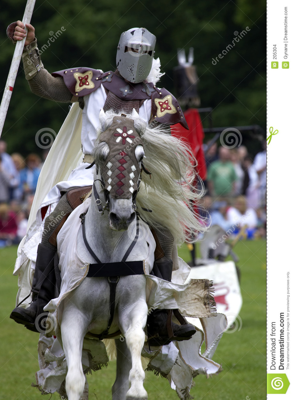 Download Knights Jousting Warwick Castle England Uk Stock Photo - Image of charger, color: 205304