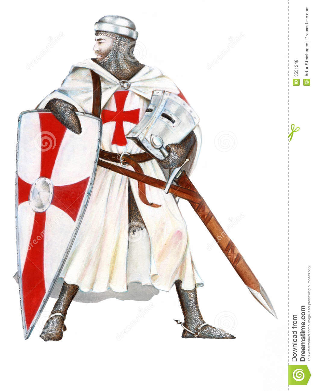 Knights templar stock illustration illustration of sword for The knights templat