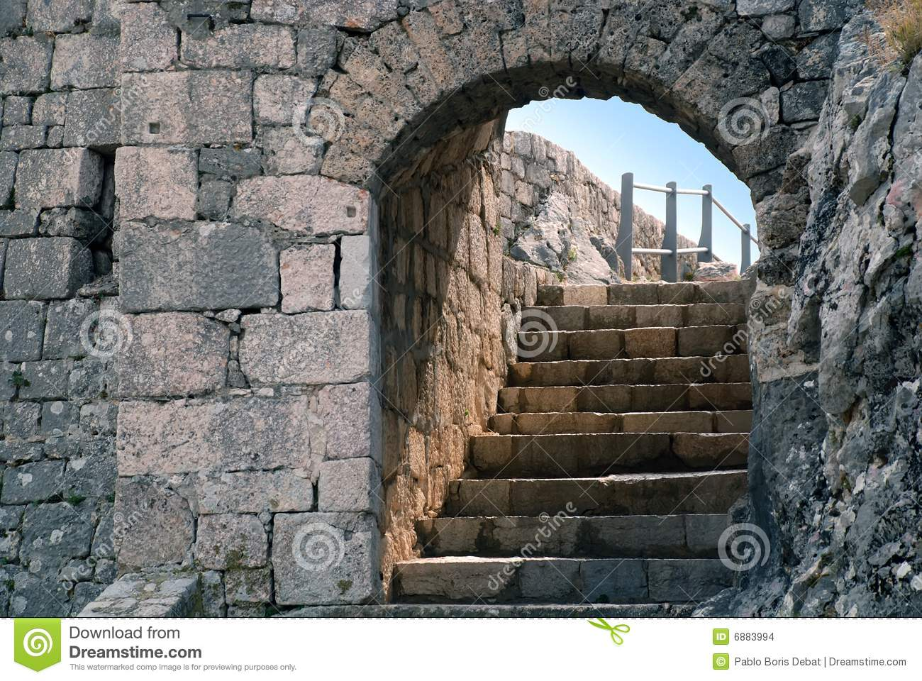 Knin fortress stone door and stairs croatia stock photo for Door of stone