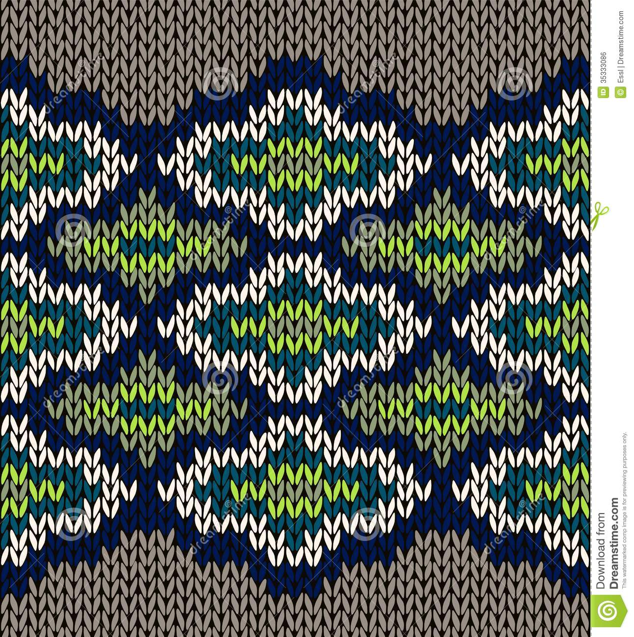 Jacquard Knitting Patterns : Knit Seamless Jacquard Ornament Texture Royalty Free Stock Image - Image: 353...