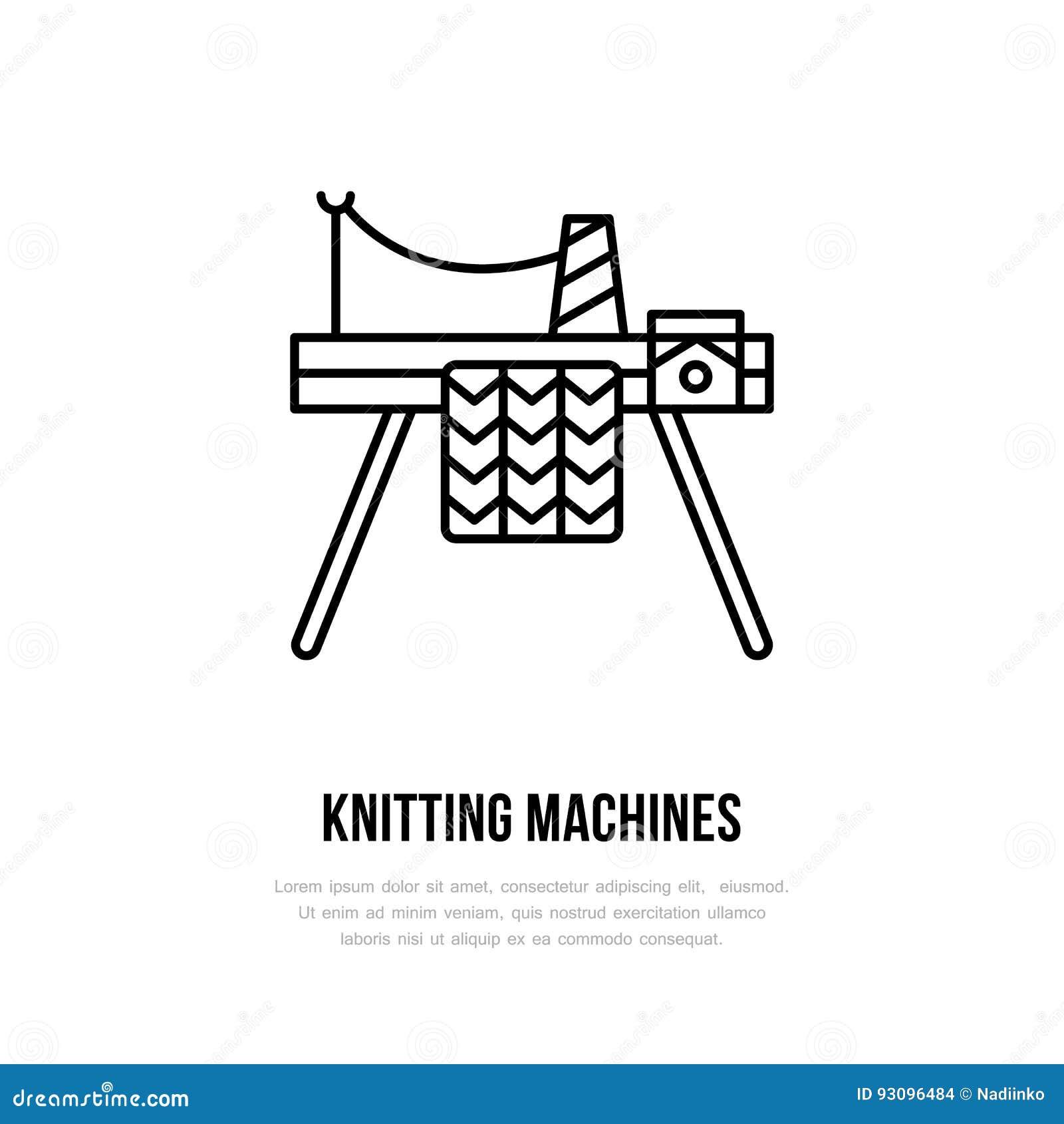 Knit Shop Line Logo. Yarn Store Flat Sign, Illustration Of Knitting ...