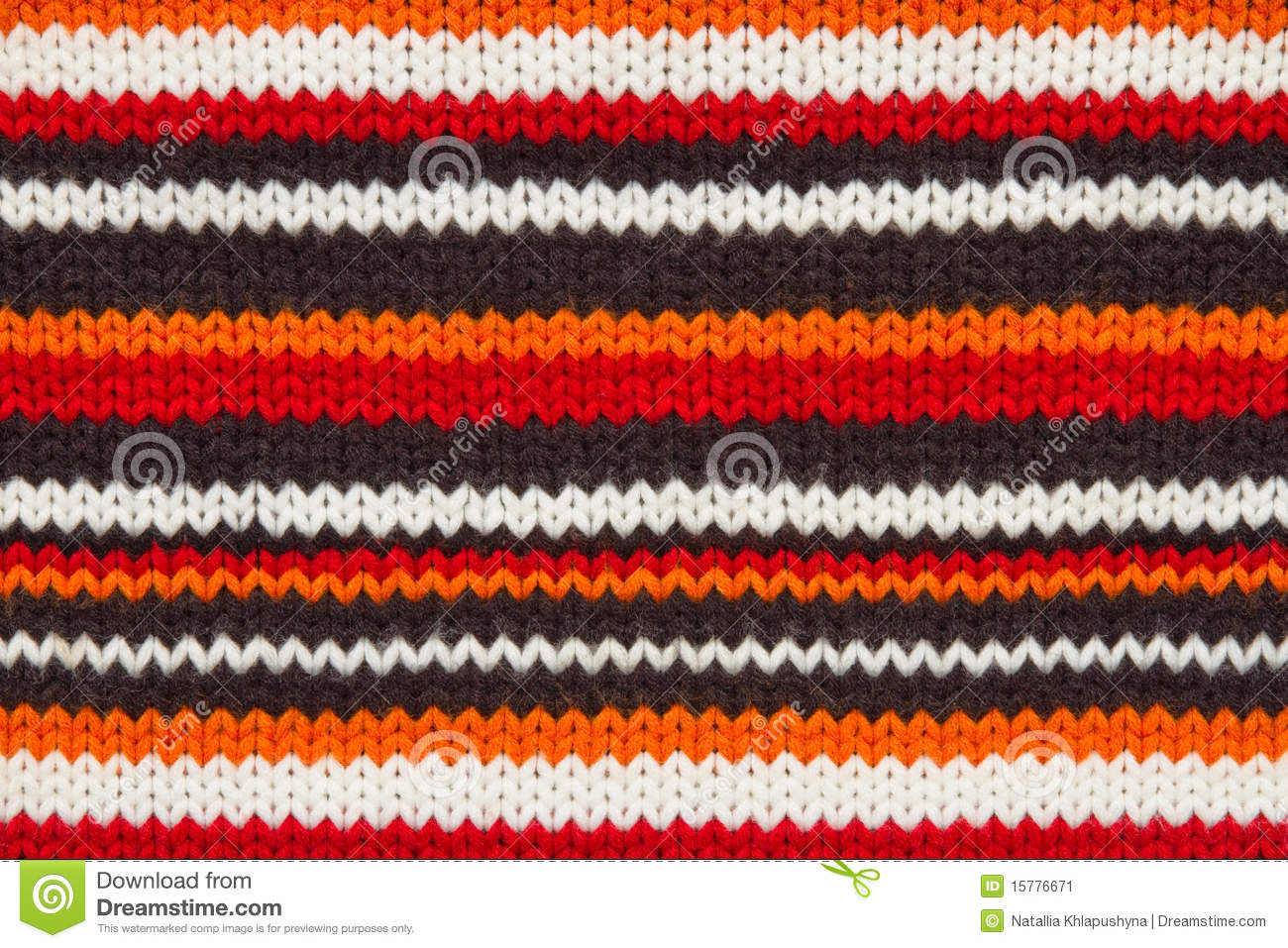 Knit Sweater Texture. Orange, Black And White Stock Image - Image ...