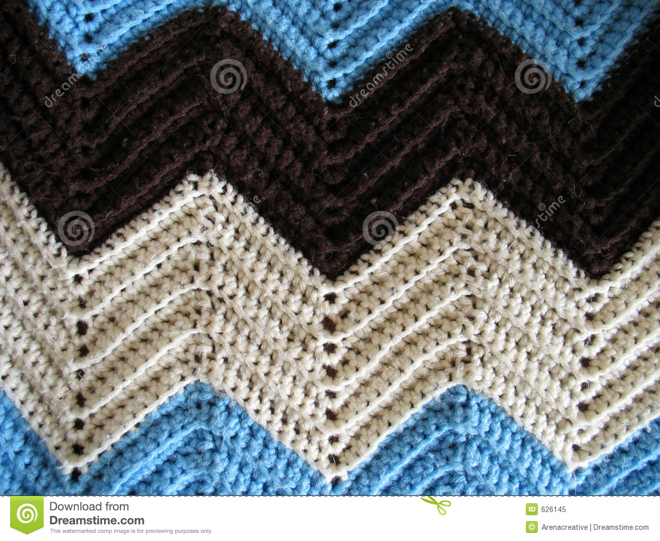 Christmas Scarf Knitting Pattern : Knitted Afghan Pattern Royalty Free Stock Photo - Image: 626145