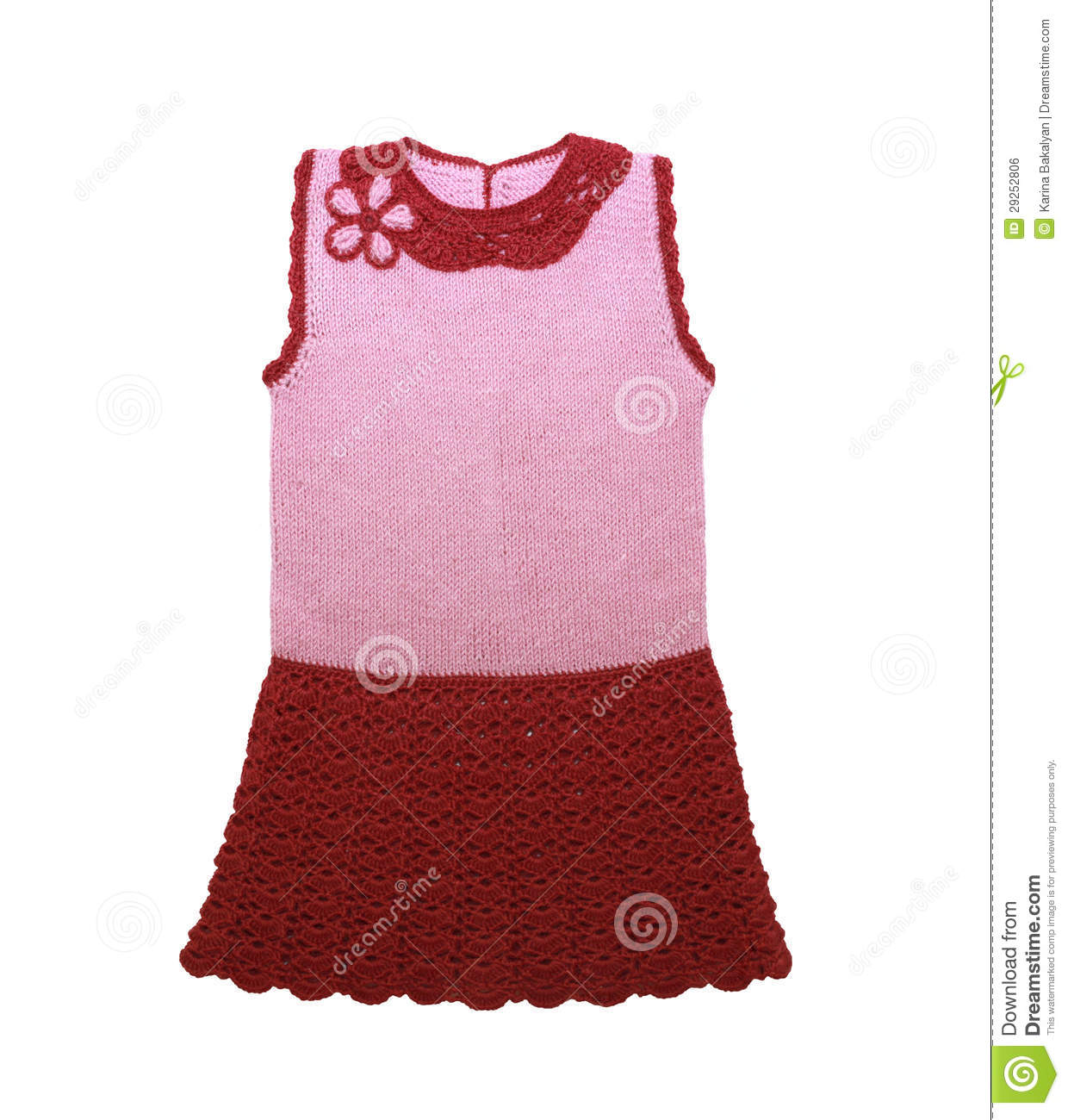 ab66f4651888 Knitted Baby Dress Isolated On A White Background Stock Photo ...