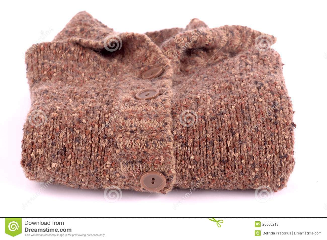 Knitted Brown Jersey Folded Stock Photos - Image: 20660213