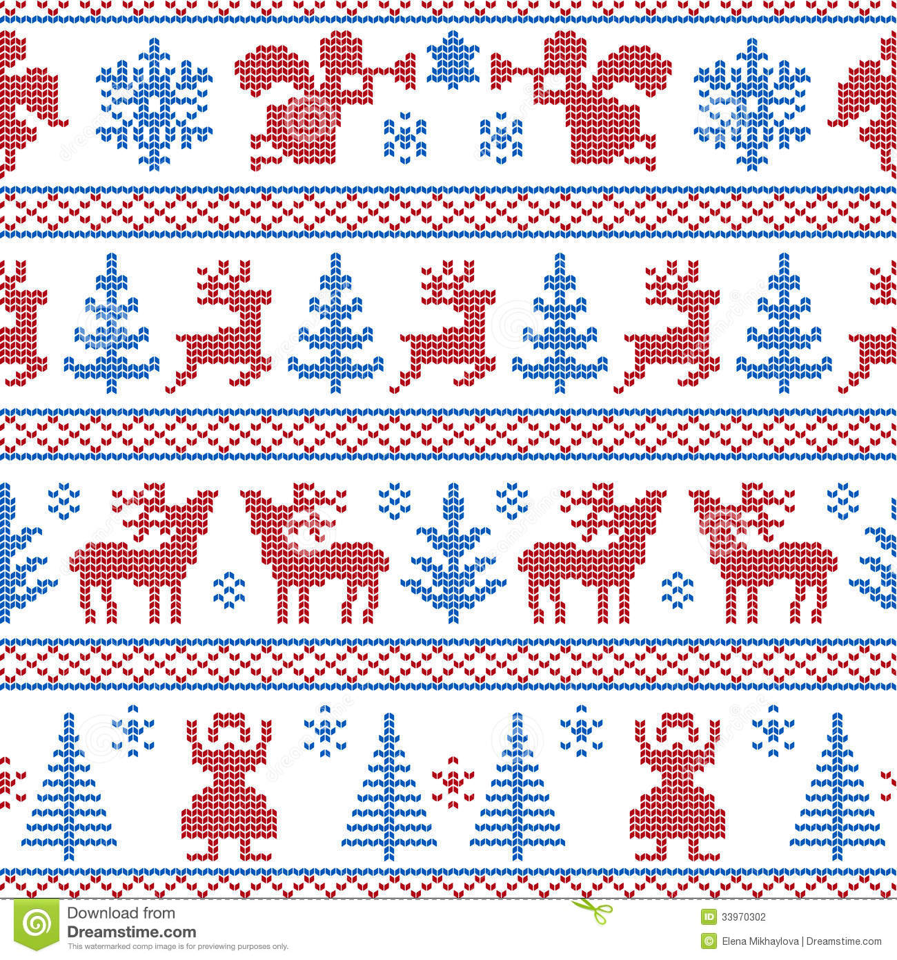 knitted christmas background stock vector illustration
