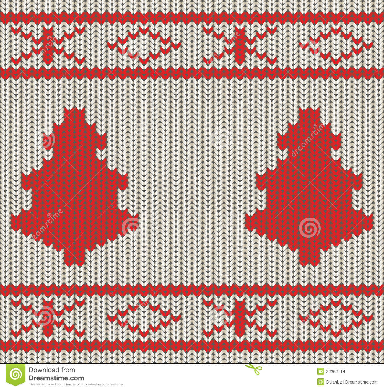 Christmas Knitting Background : Knitted christmas seamless background stock images image