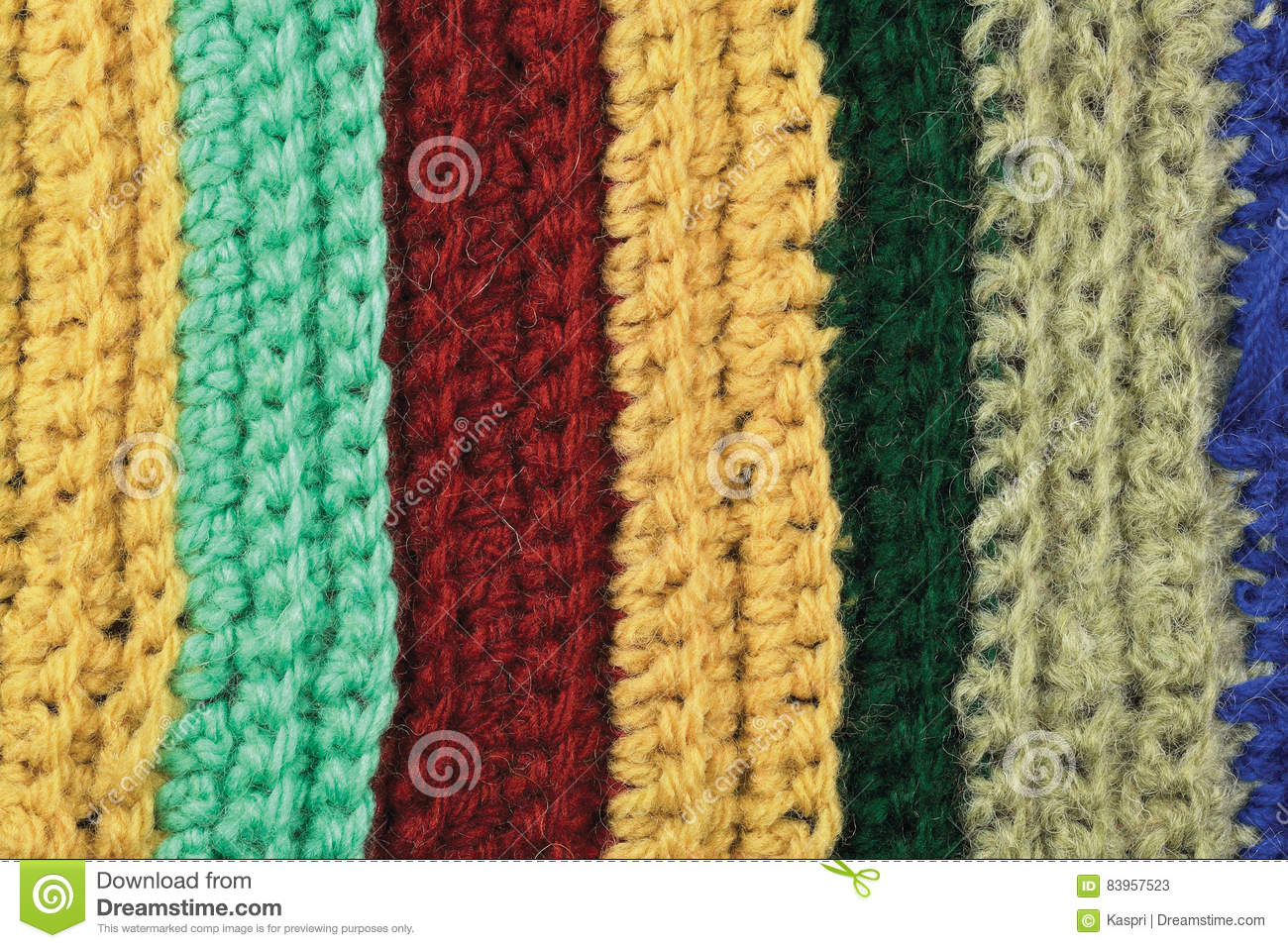 Knitting Stitch Orientation : Green Wool And Garter Stitch On Knitting Needle Royalty-Free Stock Photograph...
