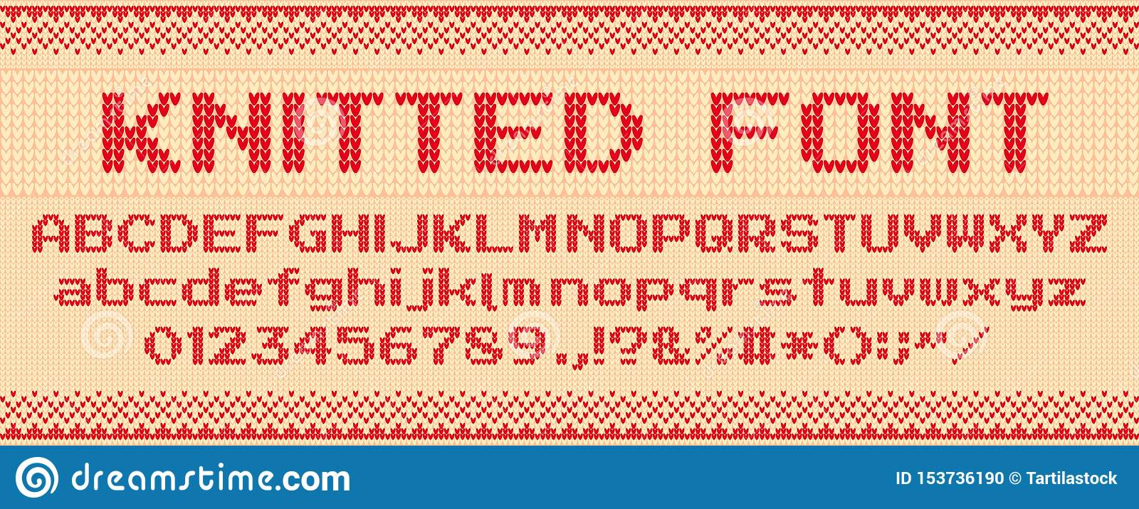 Knitted Font Christmas Ugly Sweater Knit Letters And Folk