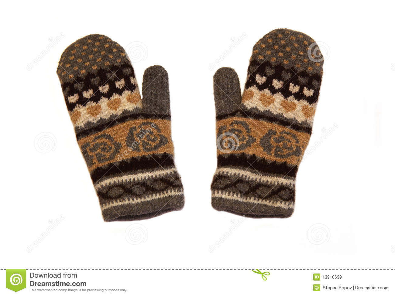 Knitting Pattern Boxing Gloves : Knitted Gloves Royalty Free Stock Images - Image: 13910639