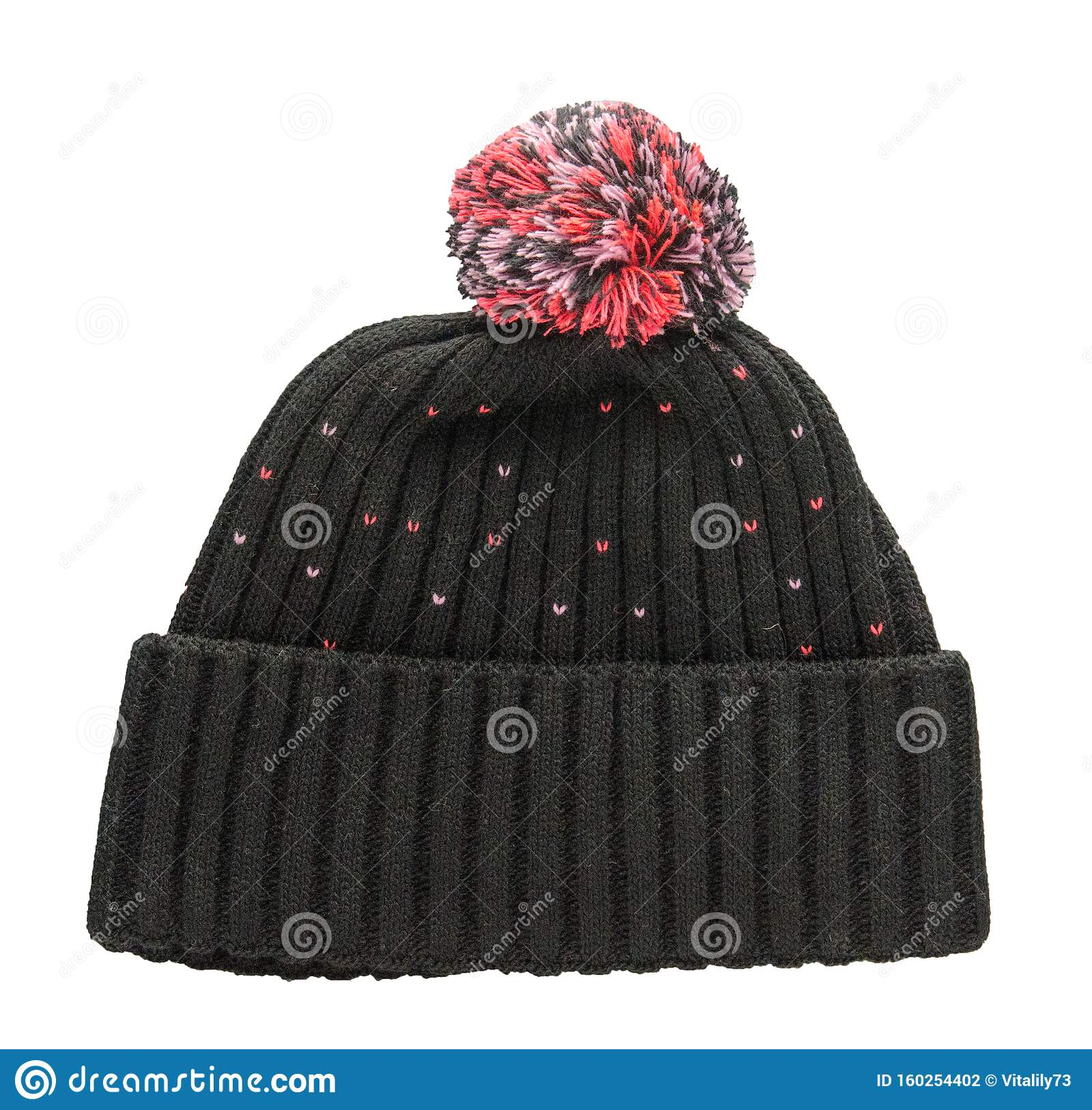 Knitted Hat Isolated On White Background Stock Photo ...