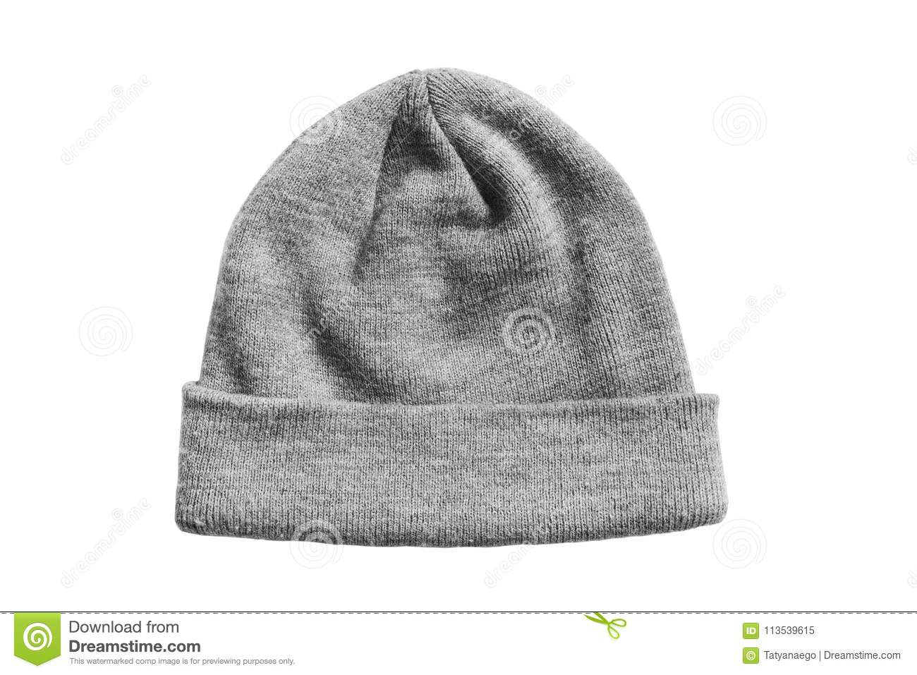 Knitted hat isolated