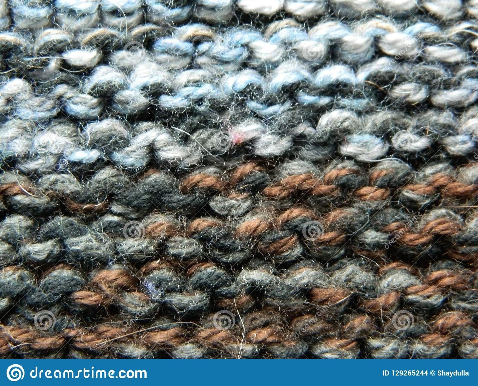 693ce7255ceec0 Knitted Knitting With Knitting Needles. Garter Stitch Stock Photo ...