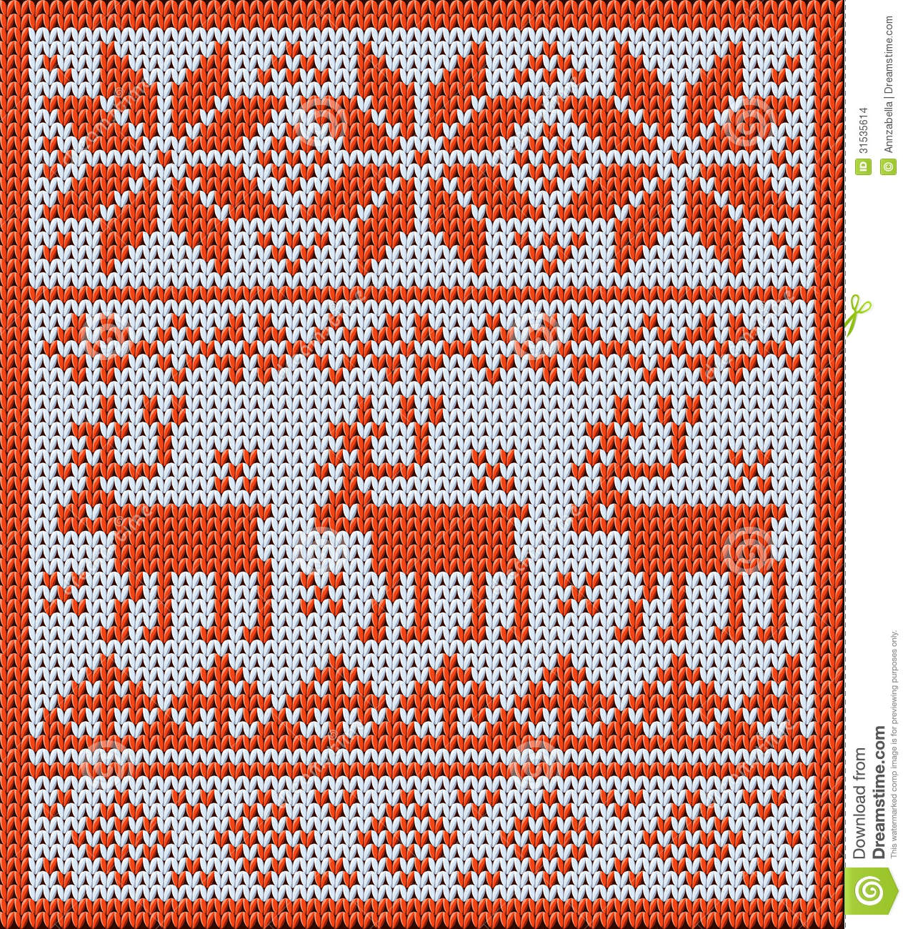 Jacquard Knitting Patterns : Knitted Pattern With Reindeer And Jacquard Flowers Stock Images - Image: 3153...