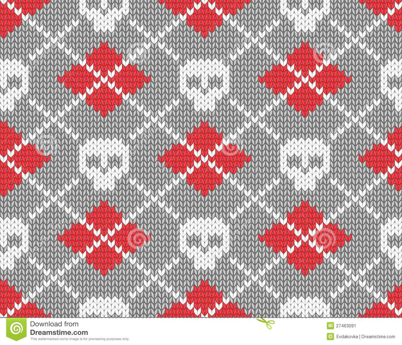 Knitted Pattern With Skulls Stock Image - Image: 27463091