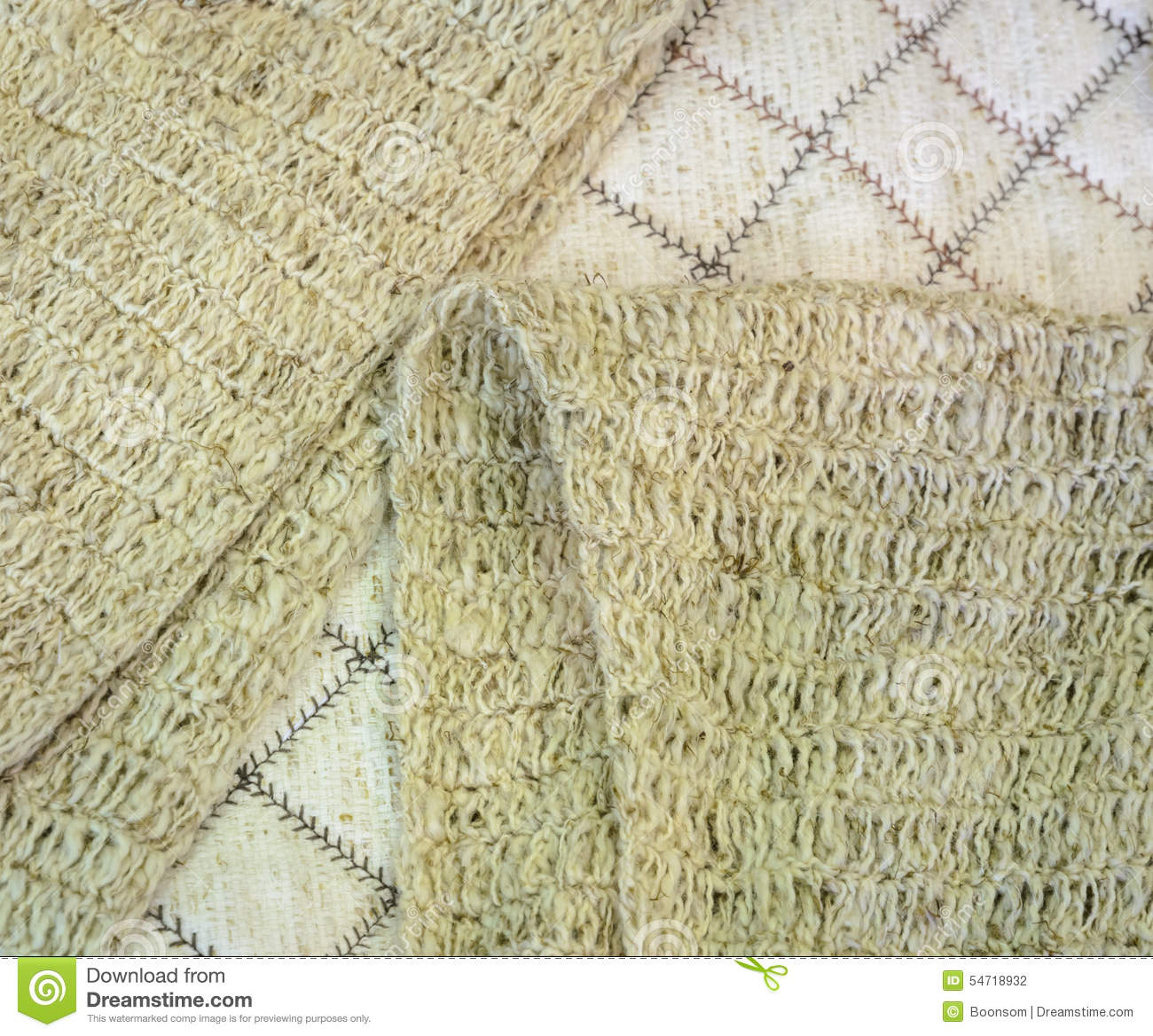 Knitted Scarf Of Bamboo Yarn Stock Photo Image Of Fiber Natural