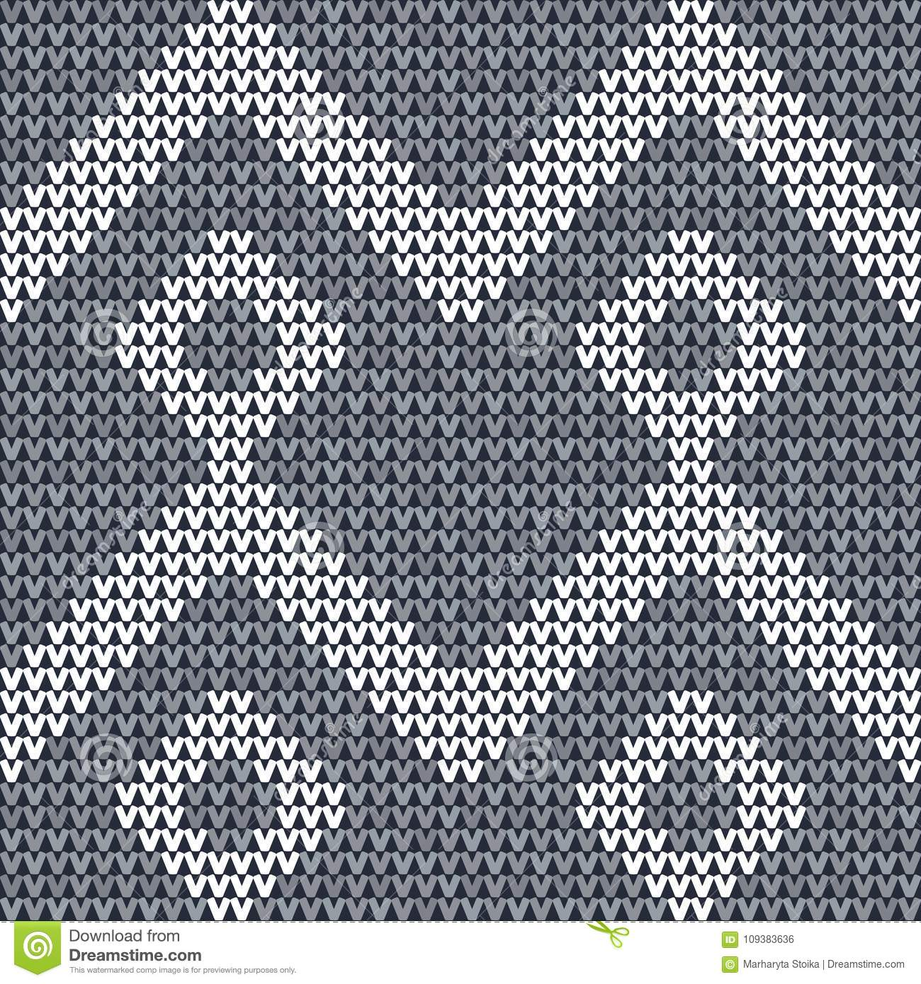 Knitted Seamless Fabric Pattern Background  Stock Vector