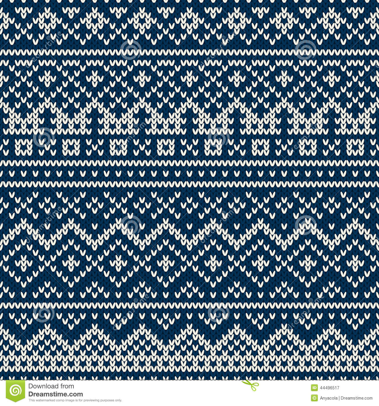 Knitted Seamless Pattern In Fair Isle Style Stock Vector ...