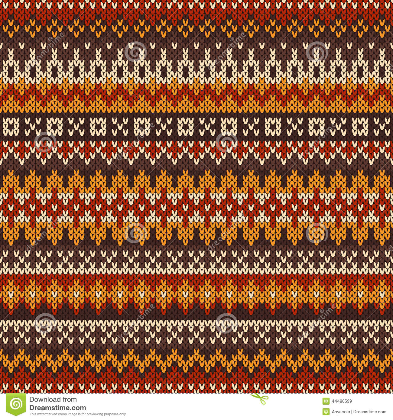 Free Baby Knitting Patterns For Blankets : Knitted Seamless Pattern In Fair Isle Style Stock Vector - Image: 44496539